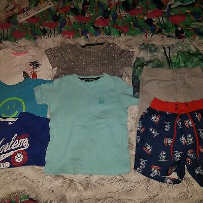 Bundle Of Boys Summer Clothes Age 3-4 Years. Shorts And Tops