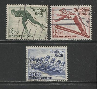 1935 Germany Third Reich Olympic Winter Games, Garmisch complete set used