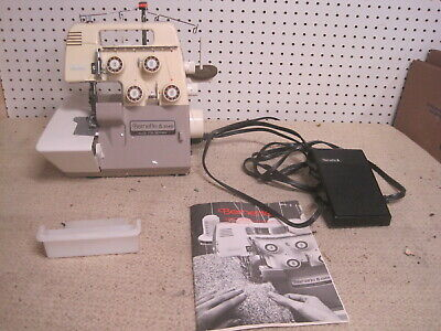 Bernina Bernette 334D Electronic Serger Sewing Machine Manual Power Cord Pedal $
