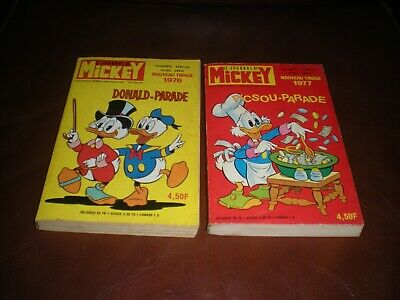 Lot 2 Mickey Parade Hors Serie N°735 Bis Et 756 Bis 1976 / 1977 Second Tirage