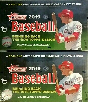 2019 Topps HERITAGE Baseball HOBBY 2 Box Lot Factory Sealed - FREE PRIORITY SHIP