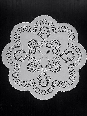 50 ct. 12 inch Ivory White French Paper Lace Doilies Decor Off-White