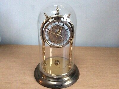 Schatz Dome Clock Jahresuhren Fabrik Germany 2 Jewels Unadjusted