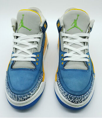 size 40 35520 bc502 2007 Air Jordan 3 LS Do The Right Thing DTRT 315297-471 Size 9
