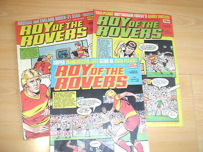 Vintage Comics Roy of the Rovers March 1984 job lot Roy of the Rovers comics