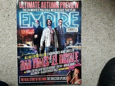 Empire October 2018 Bad Times at the El Royale Die Hard Creed Halloween
