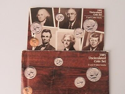 1985 P/D (10) Coin GEM Brilliant Uncirculated Mint Set in OMP         UC005