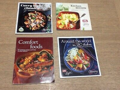 4 Slimming World Recipe Booklets Weight Watching  Loss Book Vgc