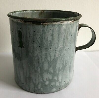 Lovely old enamel mug, decorative use only