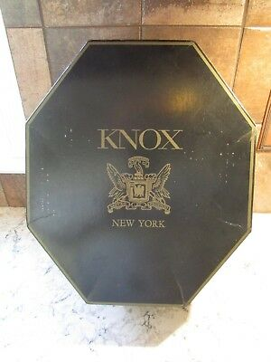 KNOX NEW YORK 8 Sided Octagonal Cardboard Hat Box - NO HAT