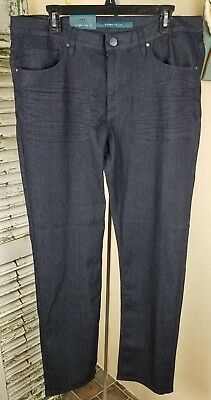 830c3906ad NWT PERRY ELLIS 2RS 36 x 32 Classic 470 SLIM Straight Fit Leg Dark Indigo  Jeans