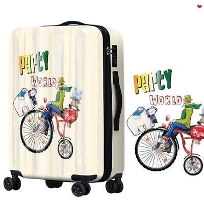 D698 Lock Universal Wheel Cartoon Characters Travel Suitcase Luggage 20 Inches W