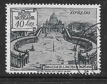 VATICAN - 1949 Express Letter Stamp - 40l. Grey, Perf. 14, Used.