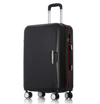D866 Black Business Coded Lock ABS Universal Wheel Suitcase Luggage 22 Inches W
