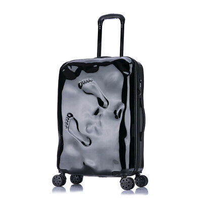 D934 Black Coded Lock Universal Wheel Travel Suitcase Luggage 20 Inches W
