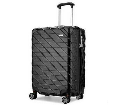 D34 Black Lock Universal Wheel ABS+PC Travel Suitcase Luggage 24 Inches W
