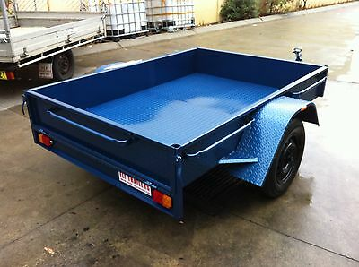 Brand New Aust Made 7X5 Box Trailer Inc Brakes 1 Tonne Rated Single Axle Le7