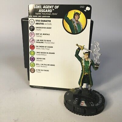HeroClix Marvel The Mighty Thor 050 Loki Agent Asgard super rare fig w/card TMT