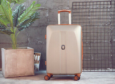 D49 Champagne Universal Wheel Coded Lock Travel Suitcase Luggage 26 Inches W
