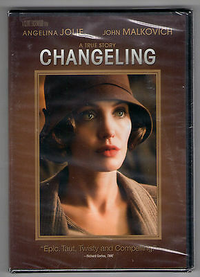 CHANGELING new dvd ANGELINA JOLIE JOHN MALKOVICH AMY RYAN JEFFREY DONOVAN