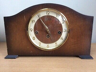 Antique Bentina 8 Day Mantle Clock Westminster Chimes
