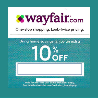 WAYFAIR Coupon~ First Time Shopper~10% Off Your Entire Order 4/15/2019