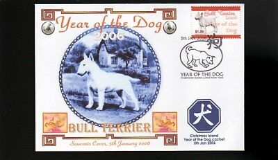 Year Of The Dog Stamp Illustrated Souvenir Cover, Bull Terrier 1