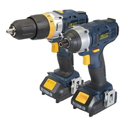 GMC 18V Combi Hammer Drill & Impact Driver Twin Pack (2 Batteries + charger) NEW