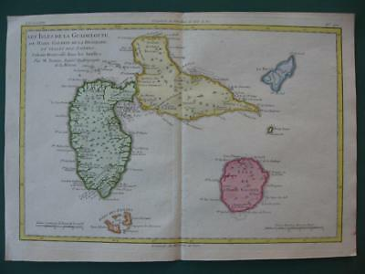 1780 - BONNE - WEST INDIES  Map GUADELOUPE  MARIE GALANTE  SAINTES