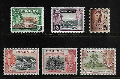 DOMINICA mixed collection, 1938 1940 1951 King George VI KGVI, mint MNG & MLH