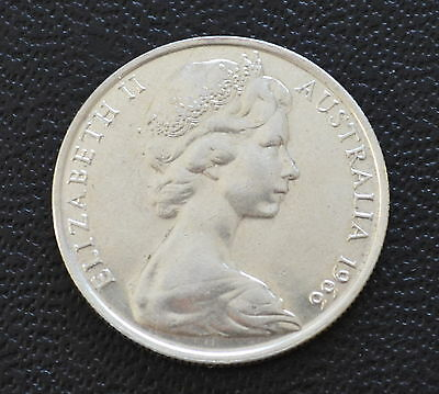 Australian 1966 round 50 cent 80% silver Coin Gift