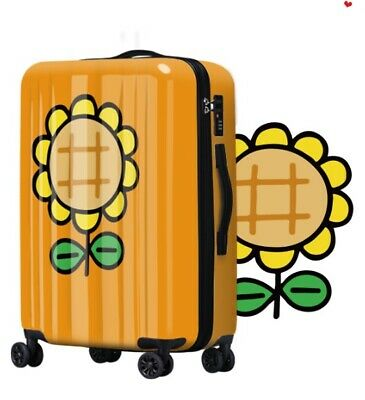 D128 Lock Universal Wheel Sunflower Travel Suitcase Luggage 20 Inches W