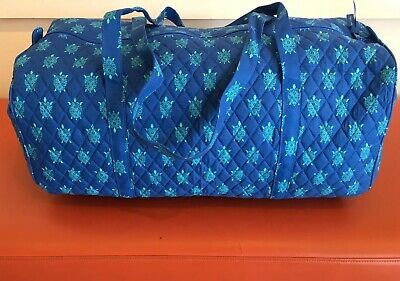 NEW Vera Bradley Large Traveler Duffel Bag Marine Turtles Pattern Foldable Quilt