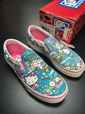 VANS YOUTH CLASSIC Slip-on Hello Kitty Girls Size 13 Kids Shoes ... bebc968d3