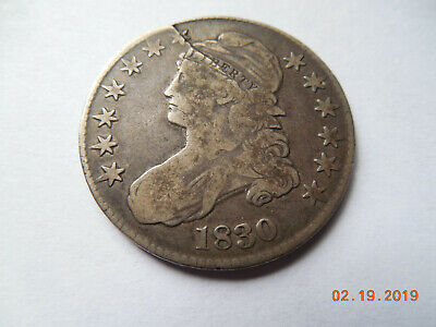 Capped bust half 1830 has a crack from who knows what. Great conversation piece