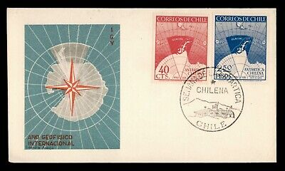 DR WHO 1940 CHILE FDC IGY ANTARCTIC CACHET COMBO  d95423