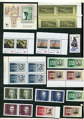 Stamp Lot Of Lithuania (6 Scans) Mng Or Mint Dull Gum