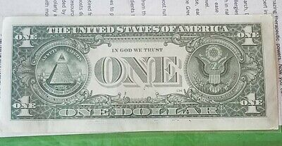 ONE DOLLAR BILL STAR NOTE. Series  B WITH LOW SERIAL NUMBER .      (B 00021546☆)