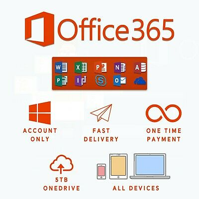 Office 365 Lifetime Account (5 Devices, 5TB OneDrive + Download)