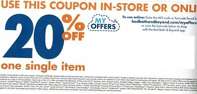10x Bed Bath and Beyond Coupons 20% off single item - Fast Shipping!!!