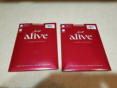 3fc49bd7875 New 2 Pairs Hanes Alive Full Support Pantyhose Style 811 Size B Little Color
