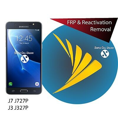 Google account FRP removal Samsung galaxy J7 J727A/P/T / J3 Emerge J327P