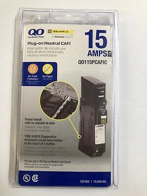 QO by Schneider Square D 15 AMPS 1 Pole Q0115PCAFIC New