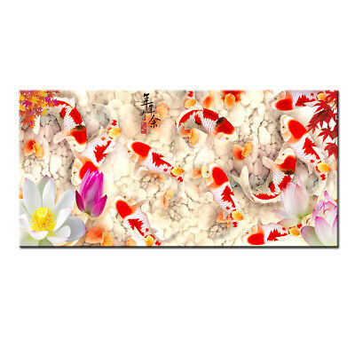 Wall Art Home Decor HD print oil painting on Canvas Feng Shui Fish Koi Painting