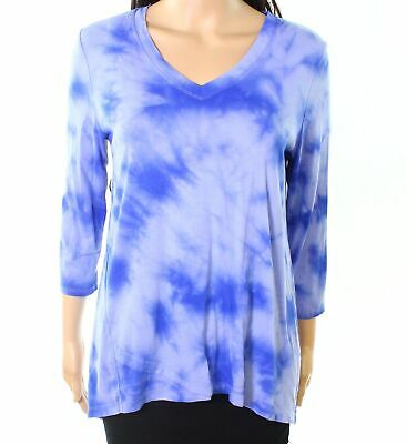 bdd633ac2b5 Calvin Klein Performance NEW Blue Womens Size Small S Printed Knit Top  49  002