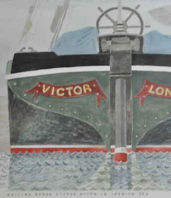 Stunning Water Colour Abstract PAINTING Victor Barge Brian Jepson 2008 NAUTICAL