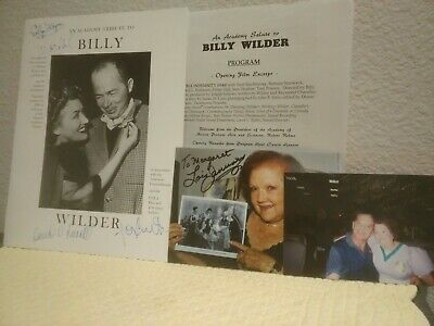 Super Rare Signed Academy Tribute Billy Wilder Tom Cruz W/extras personal owned