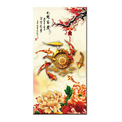 Home Decor Wall Art HD oil painting print on Canvas Feng Shui Fish Koi Painting