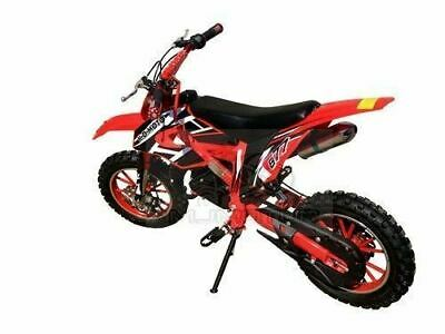 49Cc Mini Motor Dirt Bike Kids Pocket Rocket Pee Wee Motorcycle Atv 50Cc Red