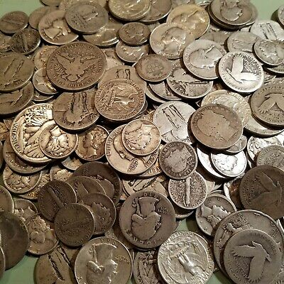 $2 Face Value 90% Silver Mixed Lot of Halves, Quarters and Dimes